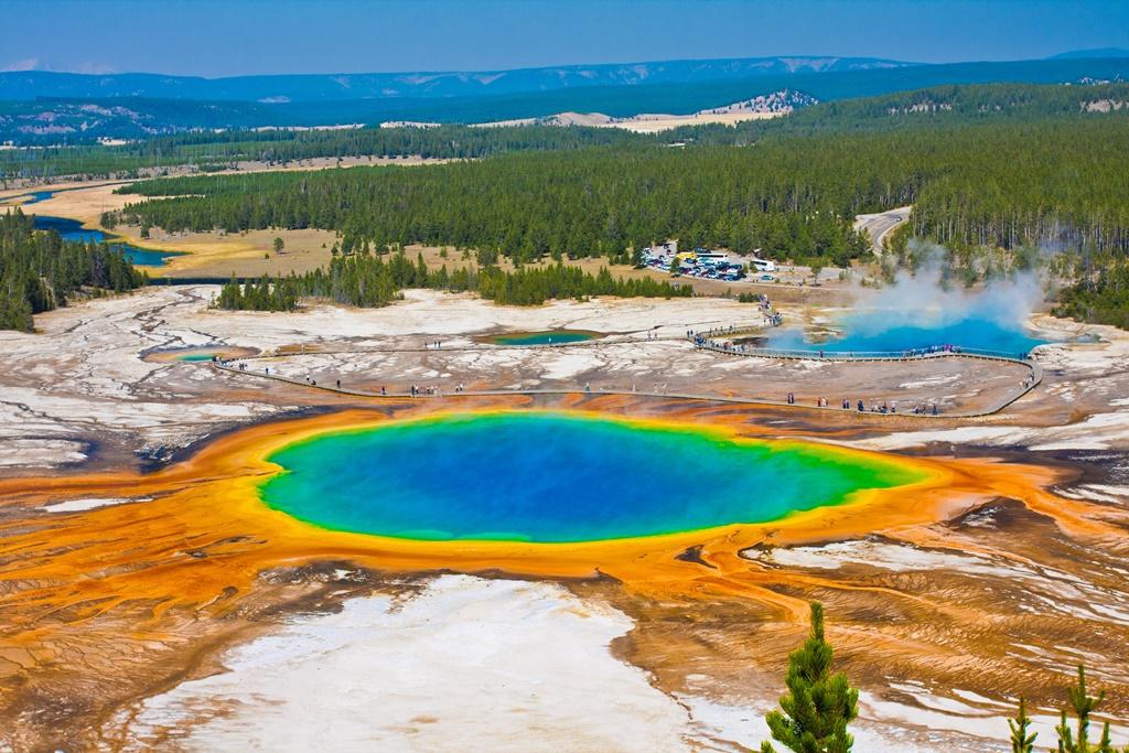 Grand Prismatic Spring nel Parco nazionale di Yellowstone