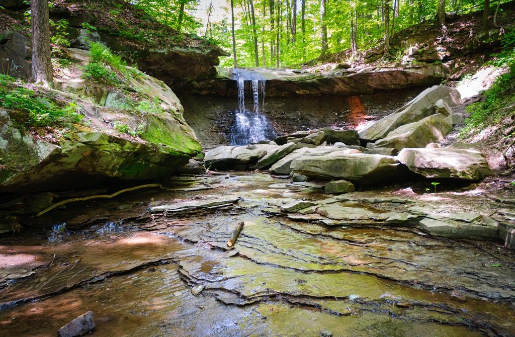 Cascata nel Parco nazionale della Cuyahoga Valley