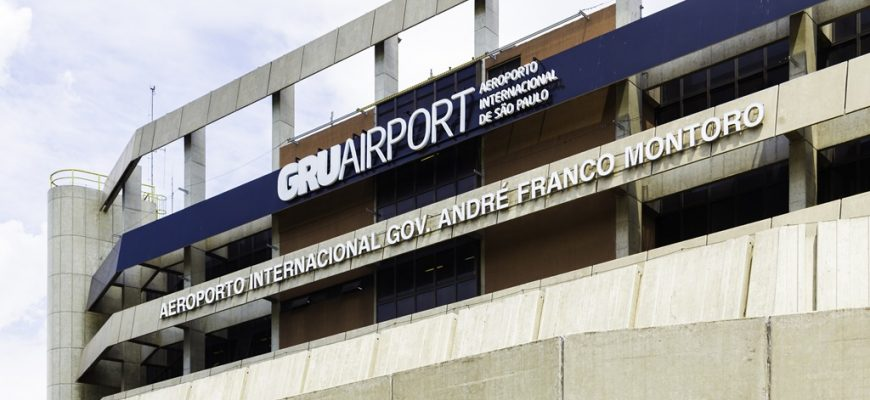 Guarulhos Airport in Sao Paulo, Brazil
