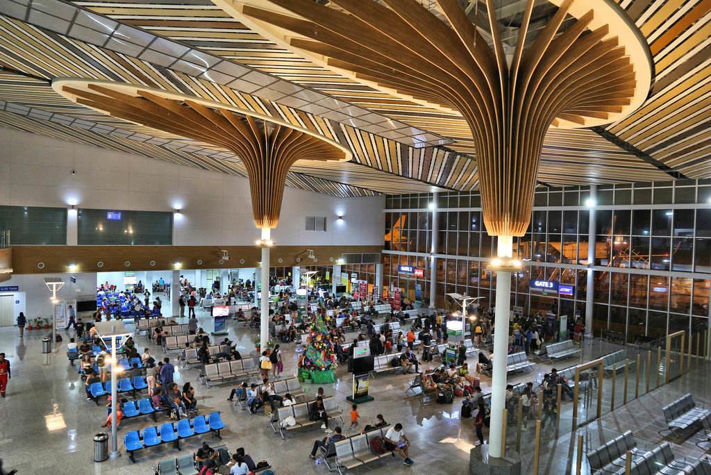 Area di attesa all'interno dell'Aeroporto di Puerto Princesa nelle Filippine