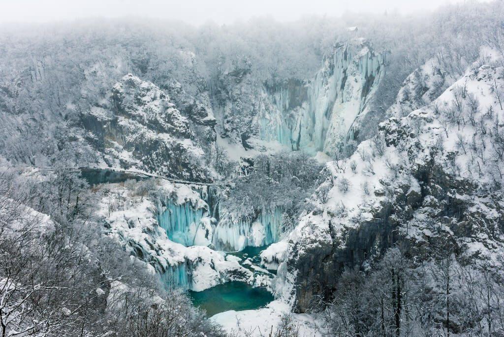 Plitvice Lakes winter