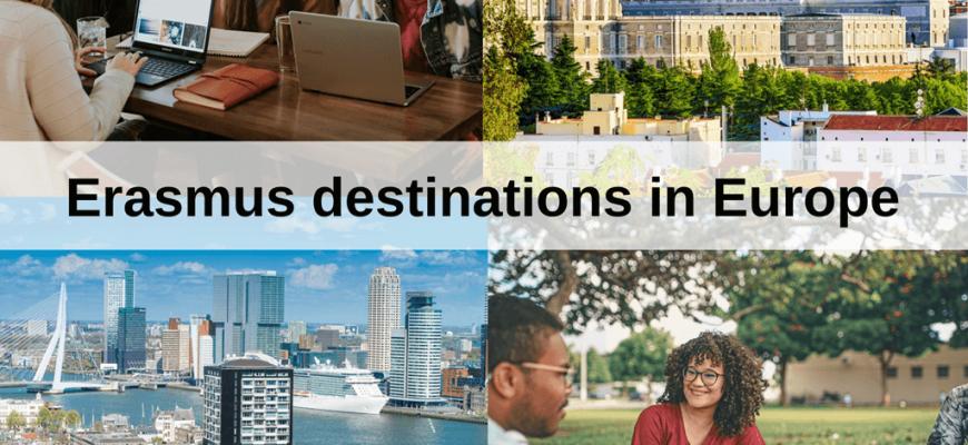 Best Erasmus destinations in Europe