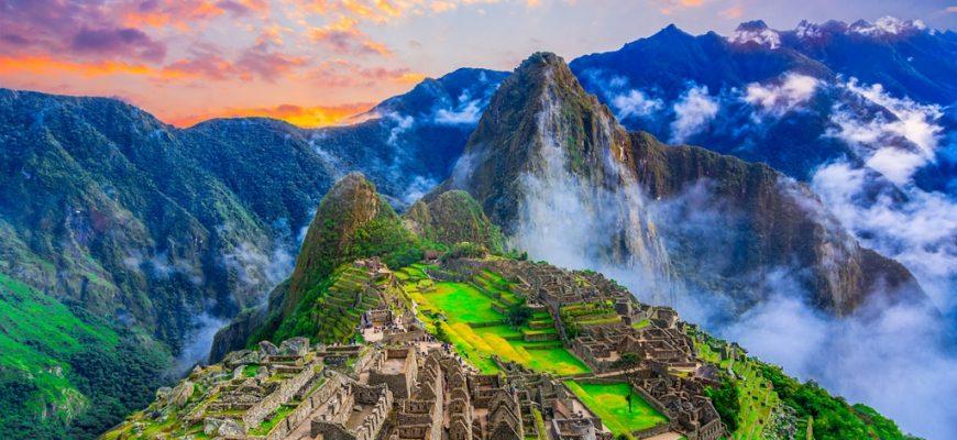 National parks in Peru: Machu Picchu site
