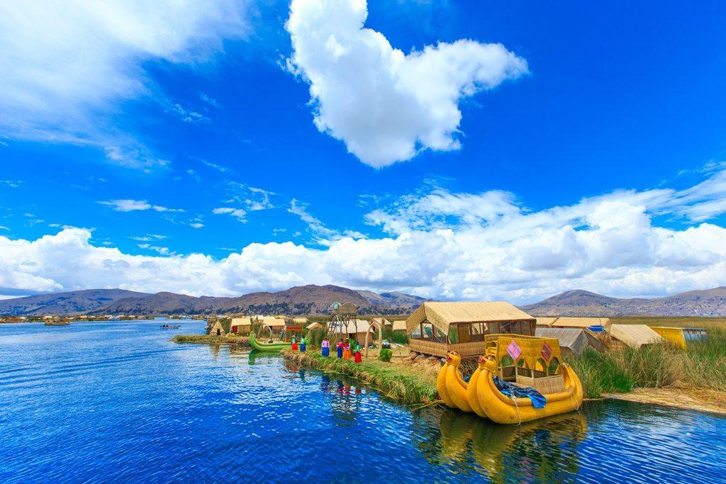 National parks in Peru: Titicaca lake